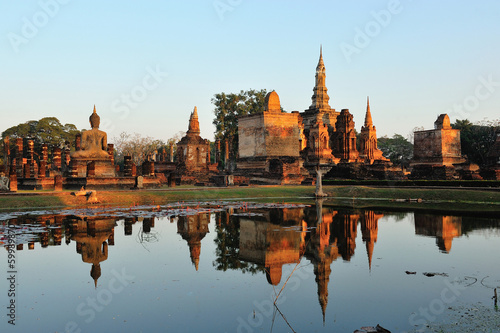 Fotografie, Obraz  Sukhothai Historical Park, former capital city of Thailand