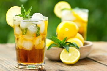 Panel Szklany Podświetlane Do herbaciarni Iced tea