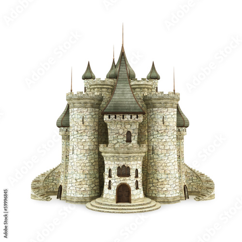 Castle, isolated on the white background Poster