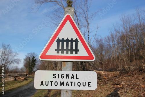 Photo  Panneau de signalisation routier,