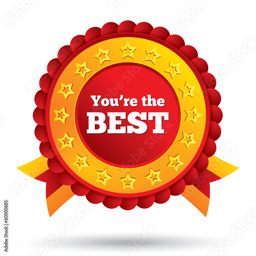 You are the best icon. Customer service award. Poster