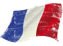 French Flag Grunge