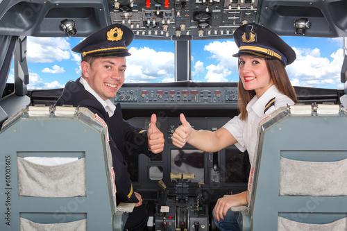 Valokuvatapetti Pilots in the Cockpit