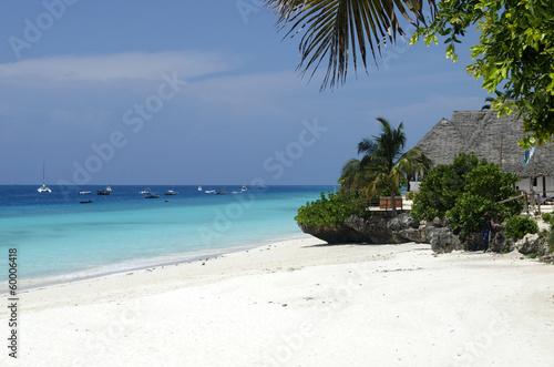 In de dag Zanzibar Nungwi Beach at Zanzibar in Tanzania, Africa