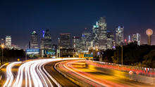 Dallas Skyline By Night
