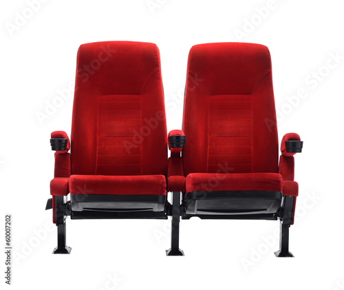 theater seat isolated on white background, movie seat Fototapeta