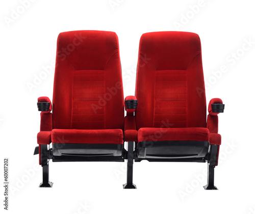 Vászonkép theater seat isolated on white background, movie seat