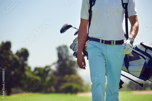 Canvas Prints Golf walking golf course