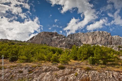 Fotografie, Obraz  Croatia mountain valley and old stone shack