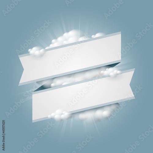 Valokuva  Banderole et nuages vectoriels 1