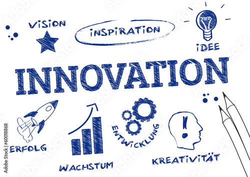 Fotografie, Obraz  Innovation Skizze