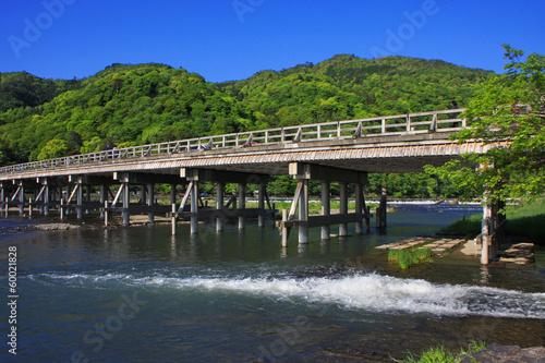 Papiers peints Kyoto 新緑の渡月橋