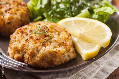 Photo Stands Seafoods Organic Homemade Crab Cakes