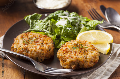 Poster Coquillage Organic Homemade Crab Cakes