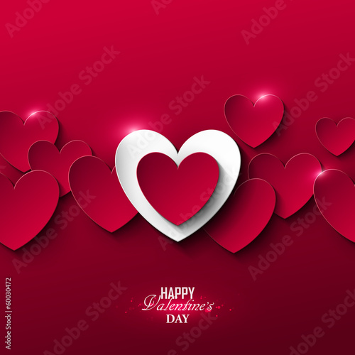 Fotografie, Obraz  Bright Valentine`s day background