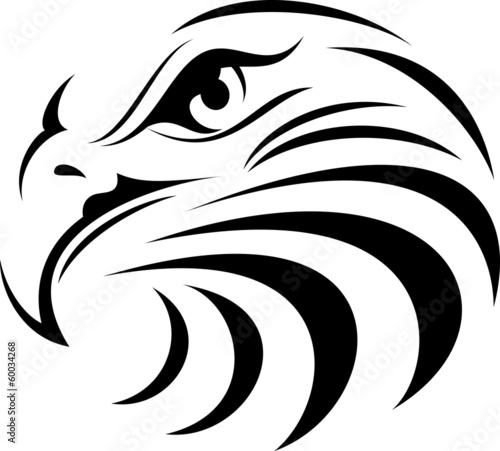 Photo  Eagle Face Silhouette