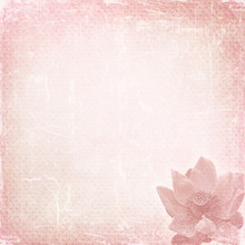 Paper Texture With Lotus Flower