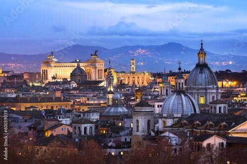 Poster Rome Vue des toits de Rome