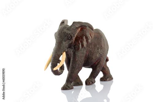 Mahogany elephant statuette