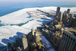 Aerial View of Chicago Downtown in Winter