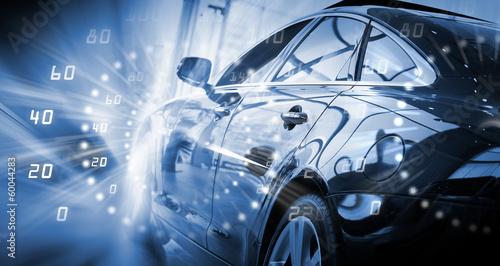 Fotografie, Obraz  Rear view of luxury car