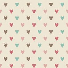 Valentine Retro Seamless Heart...
