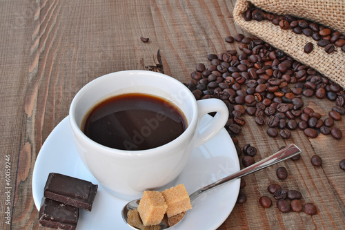 Foto op Canvas Chocolade Coffee, chocolate, brown sugar