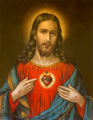 Fototapetatypical catholic image of heart of Jesus Christ