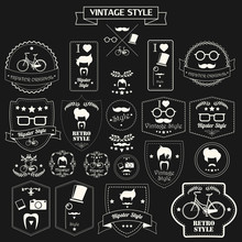 Collection Of Vintage Hipster ...