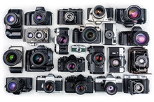 Set Of Vintage Film Cameras.