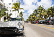 canvas print picture - Miami beach ocean drive