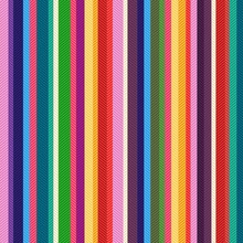 Seamless Colorful Stripes Text...
