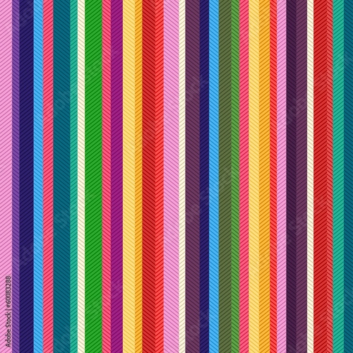 Cotton fabric seamless colorful stripes textured pattern
