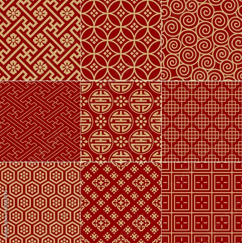Fotografie, Obraz  seamless traditional auspicious chinese mesh pattern