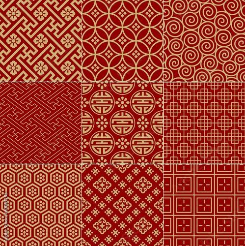 Fotografía  seamless traditional auspicious chinese mesh pattern