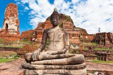Bouddha, Temple De Wat Phra Ma...