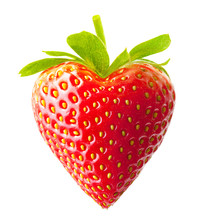 Strawberry Heart Shape Isolate...