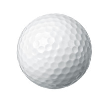 Close Up Of A Golf Ball Isolat...