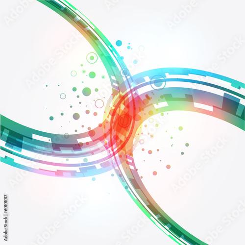 streszczenie-zielonym-tle-wektor