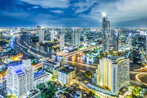In de dag Bangkok City scape in Bangkok Thailand