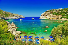 Turquoise Beaches Of Rhodes,Gr...