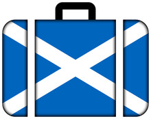 Suitcase With Scotland Flag