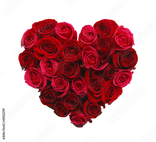 Wall Murals Roses Heart of Roses