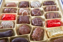 Box Of Various Chocolate Candies