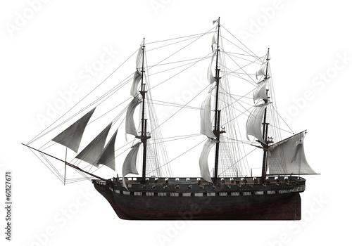 Keuken foto achterwand Schip Sail Ship Isolated