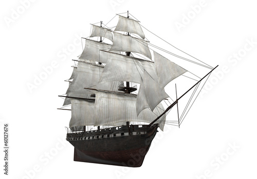 Foto op Canvas Schip Sail Ship Isolated