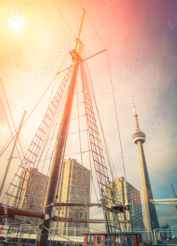 Fotografie, Obraz  Toronto downtown from the Harbourfront on Ontario Lake
