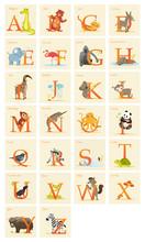 Animal Alphabet Set,  Vector Illustration