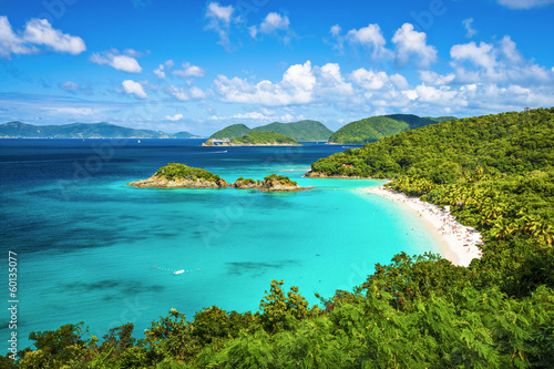 Photo sur Toile Caraibes Trunk Bay, St. John, United State Virgin Islands