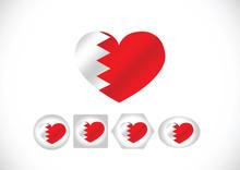 Bahrain Flag Themes Idea Design